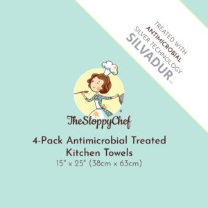 4-Pack Antimicrobial Treated Kitchen Towels