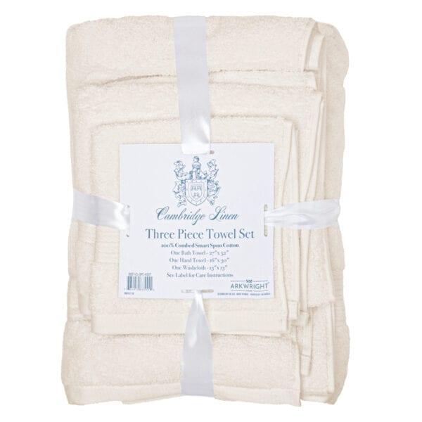 Cambridge Linen Three Piece Towel Set Artic Wolf