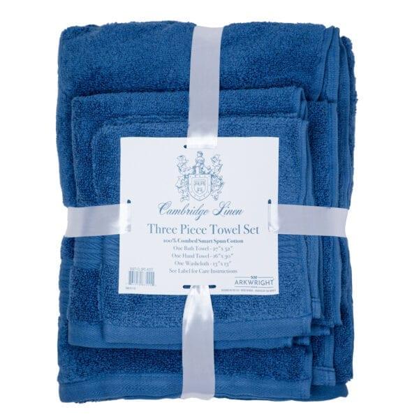 Cambridge Linen Three Piece Towel Set Blue