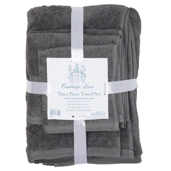 Cambridge Linen Three Piece Towel Set Lave Smoke