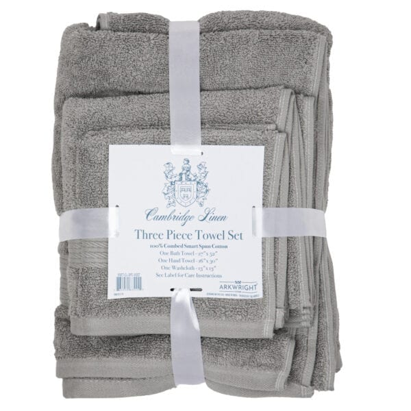 Cambridge Linen Three Piece Towel Set Grey