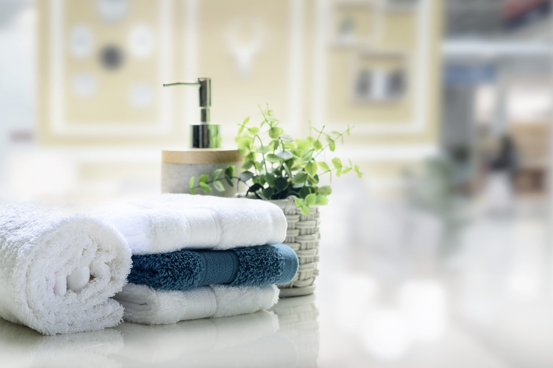 Making Small Bathrooms Bloom with Colorful Bath Towels